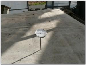浄化している土の温度を調整