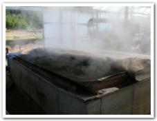 蒸気で黒土を消毒