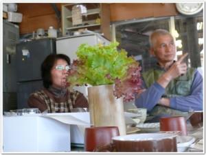 竹プランターで栽培中