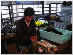 竹プランター作家の隆治