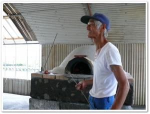 ピザ窯を試運転