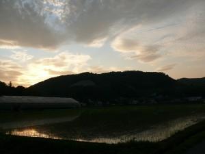 千歳町の夕焼け空