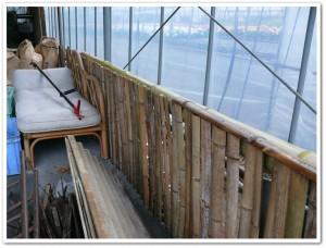 竹の塀を作る