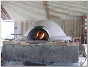 窯を暖める