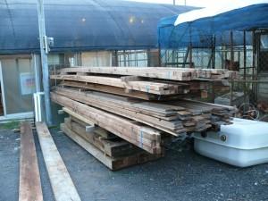 頂いた木材