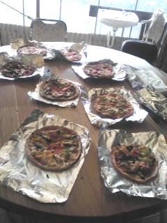 ピザがいっぱい
