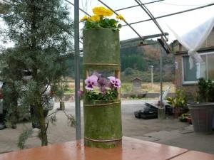 竹プランターを作る