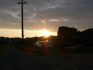 千歳町の夕陽2011年の12月