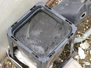 容器の水が凍る
