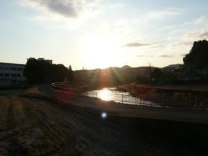 豊後大野市千歳町の夕陽