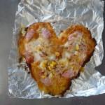 ハート形のピザ