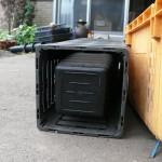 穴のない容器をプランターに使う