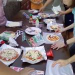 ピザ窯体験2014