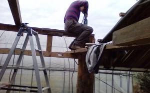 屋根取り付け