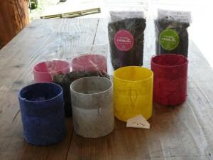 室内栽培キットの和紙プランター