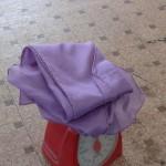 乾いた紫草染めの姿