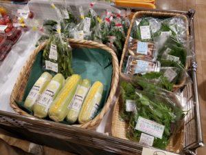 トキハ大分の地元産直野菜売り場